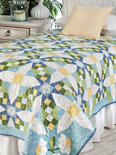 Daisy Chain Throw Quilt Pattern