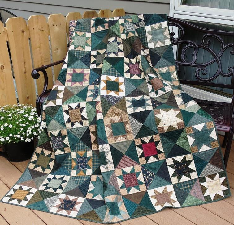 Stars Sparkle in This Beautiful Quilt - Quilting Digest