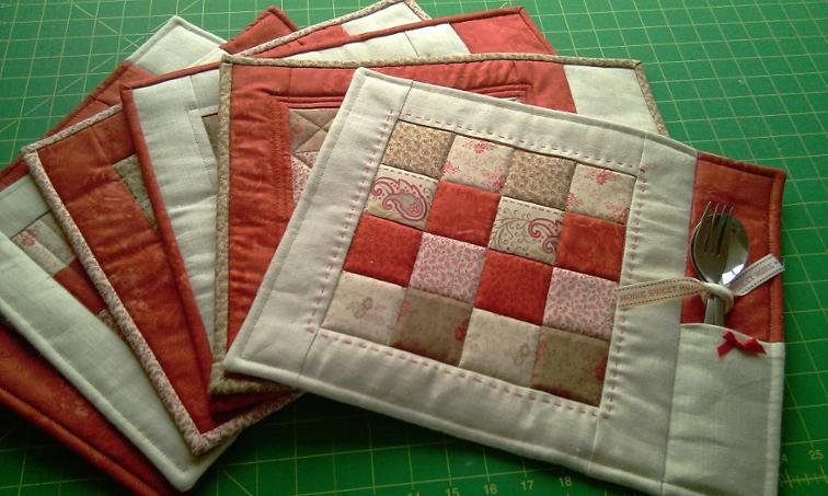 Patchwork Placemats With Clever Pockets Quilting Digest