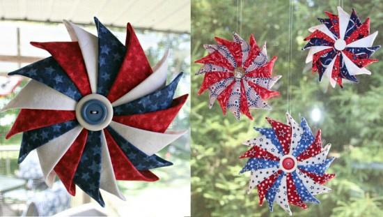 Prairie Point Star Ornaments