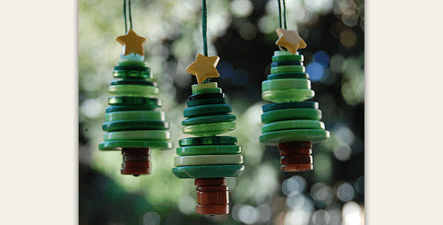 Button Tree Ornaments