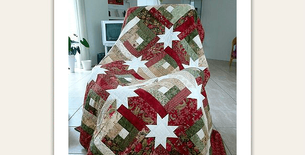 Creative Log Cabin Blocks Sparkle In This Quilt Quilting Digest