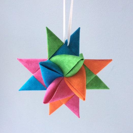 Fabric Folded Star Ornament