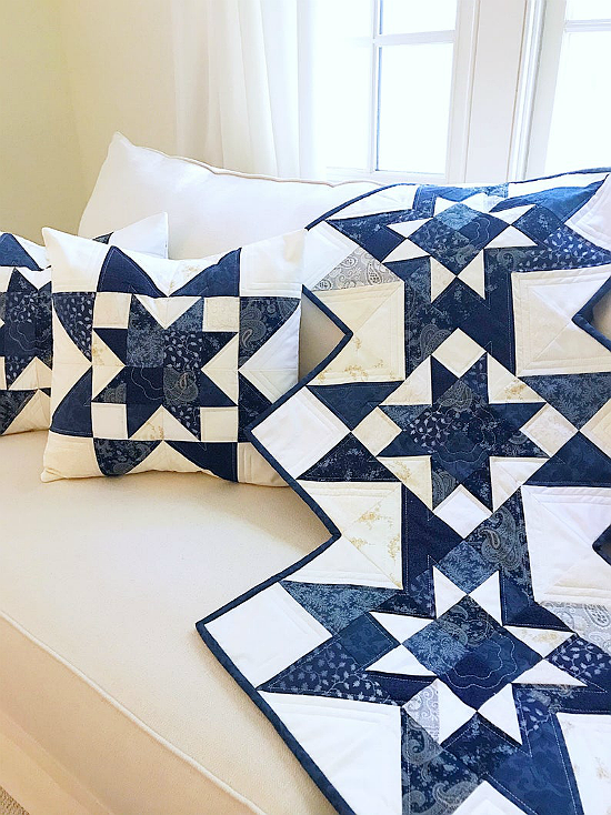 Star Runner and Pillow Pattern