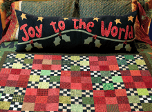 Joy to the World Pillow and Quilt