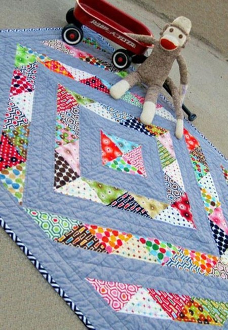 Perfect Prism Charm-Friendly Baby Quilt