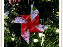 Fabric Pinwheel Ornament