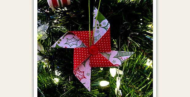Fabric Pinwheel Ornament