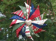 Prairie Point Star Ornament