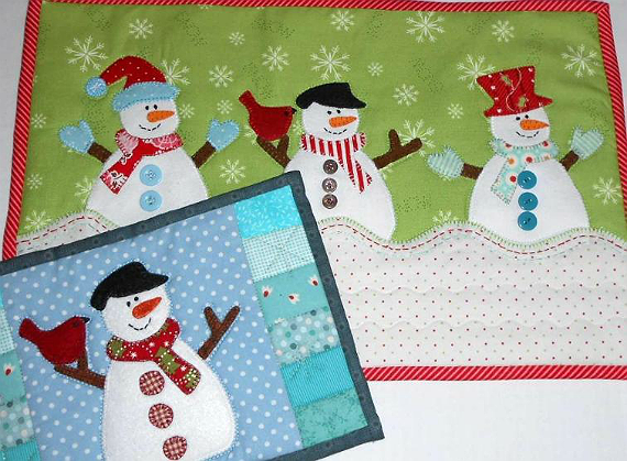 Snowmen Hats and Mittens Pattern