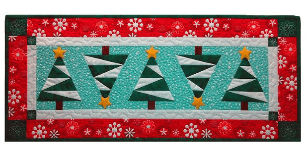 Snowy Pines Table Runner