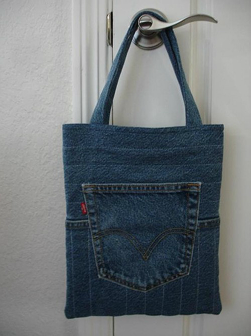 Quilted Jeans Tote Tutorial