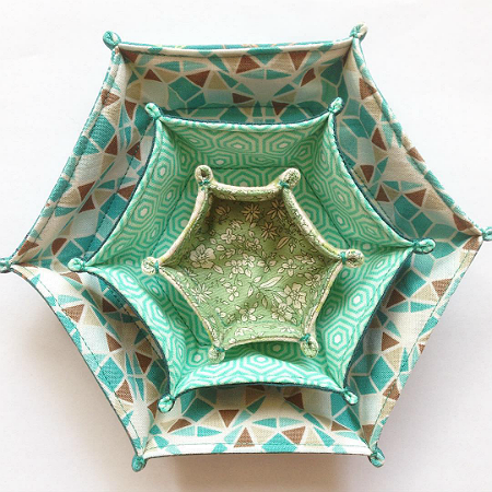 Hexagon Fabric Tray Tutorial
