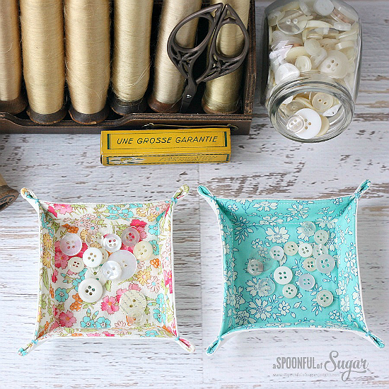 Patchwork Fabric Trays
