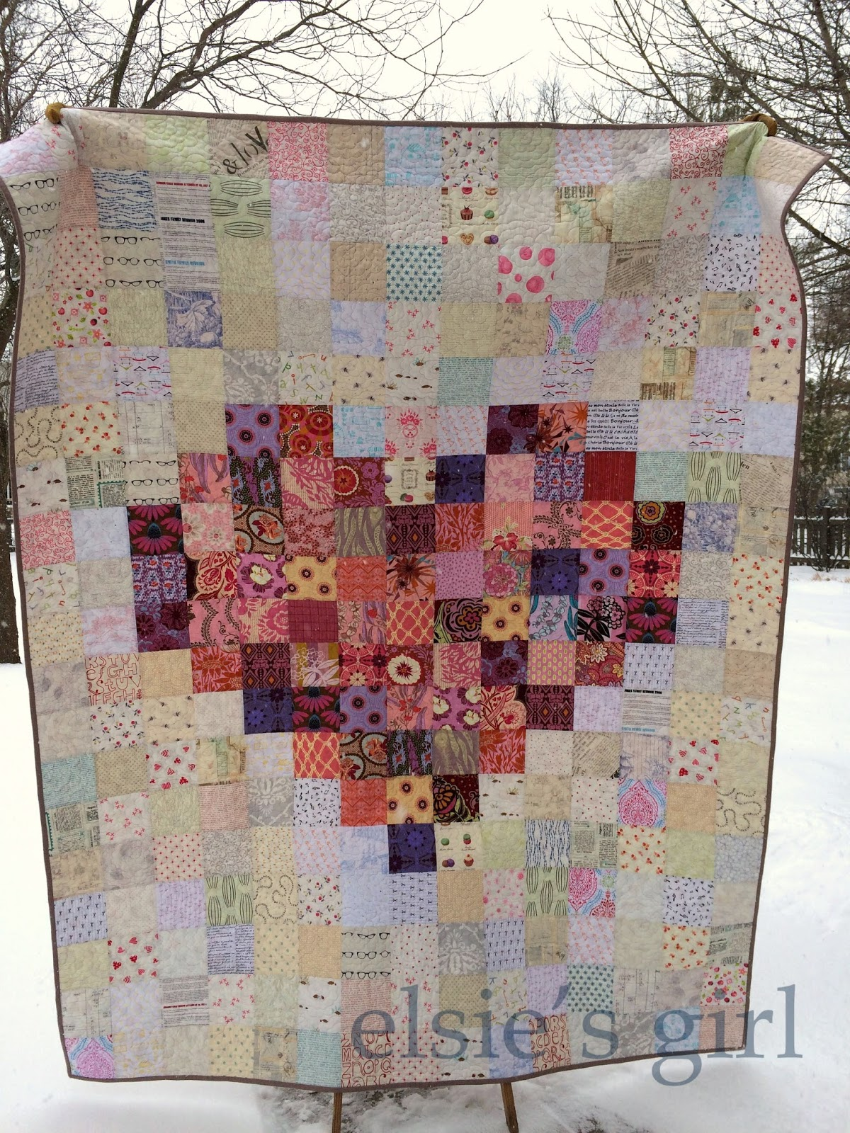 Charm Squares Make A Lovely Pixelated Heart Quilting Digest