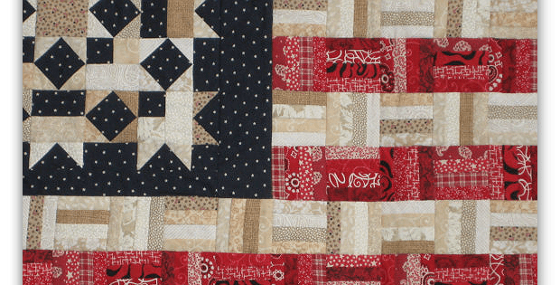 Display Your Colors with This Scrappy Flag Quilt - Quilting Digest : american flag quilt - Adamdwight.com
