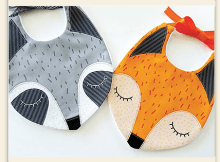 Fox and Raccoon Bibs