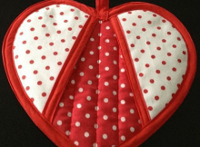 Heart-Shaped Potholder