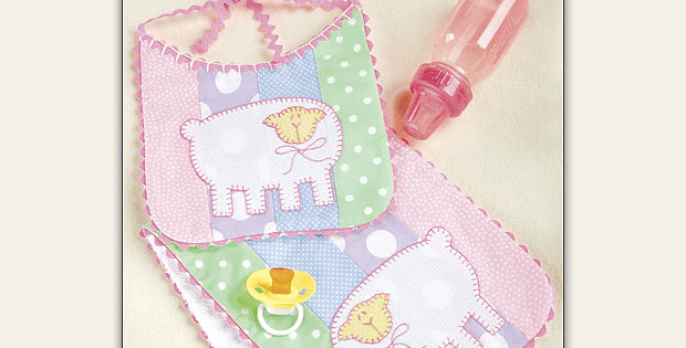Little Lamb Bib and Burp Pad