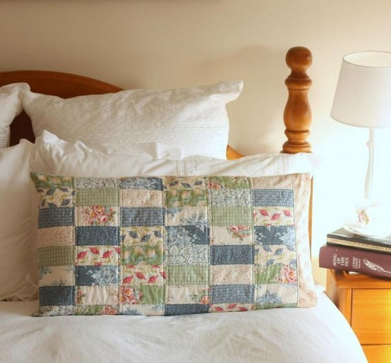 Pretty Patchwork Pillow Sham