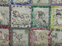 Quilt-As-You-Go Method for Vintage Linens