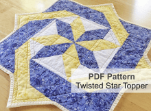 Twisted Star Table Topper