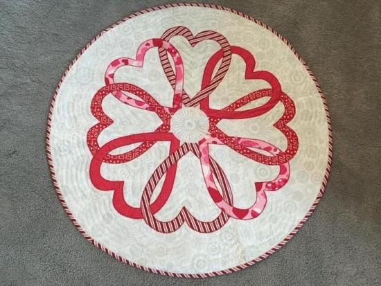 Round Valentine Table Topper