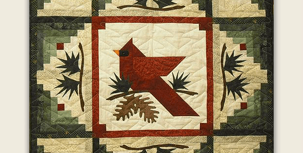 Winter's Majesty Cardinal Quilt Pattern