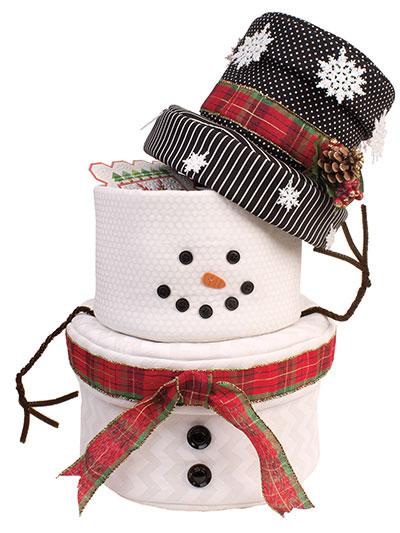 Snowman Nesting Fabric Baskets