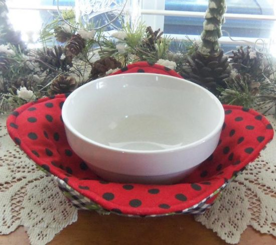 1 Hour Hot Bowl Cozy Holder - Petal Style