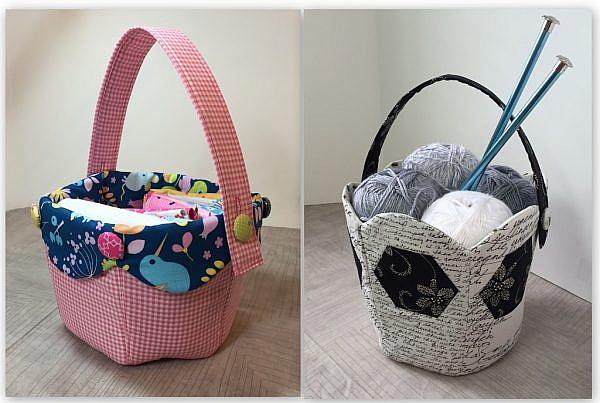 Fabric Tulip Basket Pattern