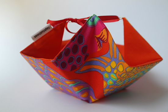 Fabric Basket with Ties