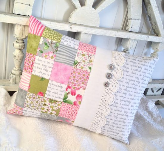 Romantic Patchwork Pillow