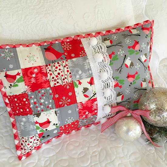Romantic Patchwork Pillow