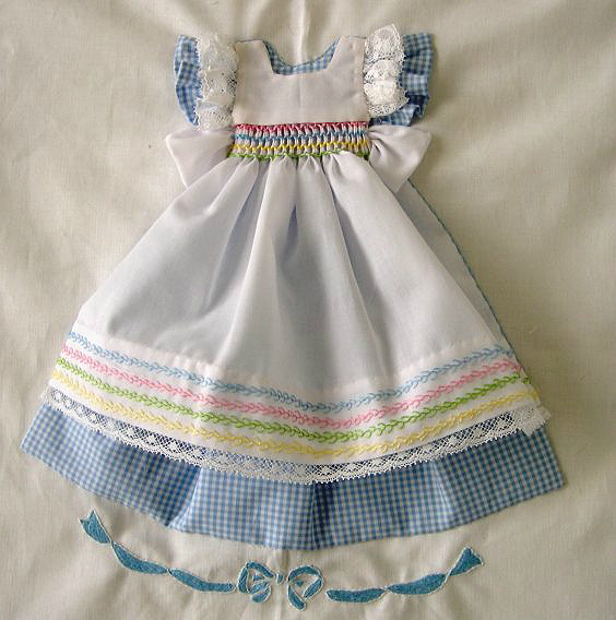 Blue Gingham Dress Block