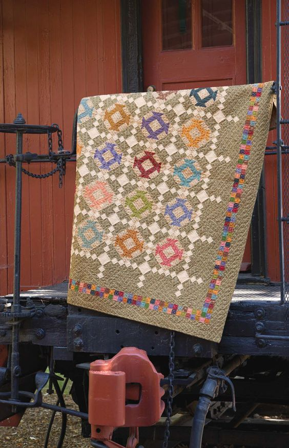 Churn Dash Checkers Quilt Pattern