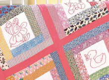 Embroidered Blocks Baby Quilt