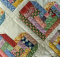 Scrappy Log Cabin Hearts Quilt