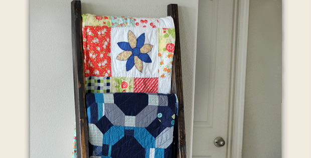 Display Your Quilts on a DIY Quilt Ladder - Quilting Digest : quilt display ladder - Adamdwight.com