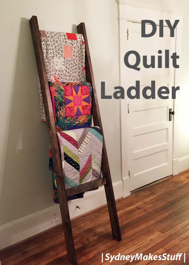 Ladder Quilt Display Rack Diy Quilt Ladders Quilt Racks