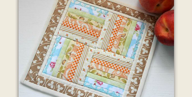 Rail Fence Miniature Quilt
