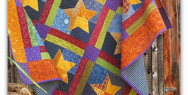 Simple Festive Stars Quilt