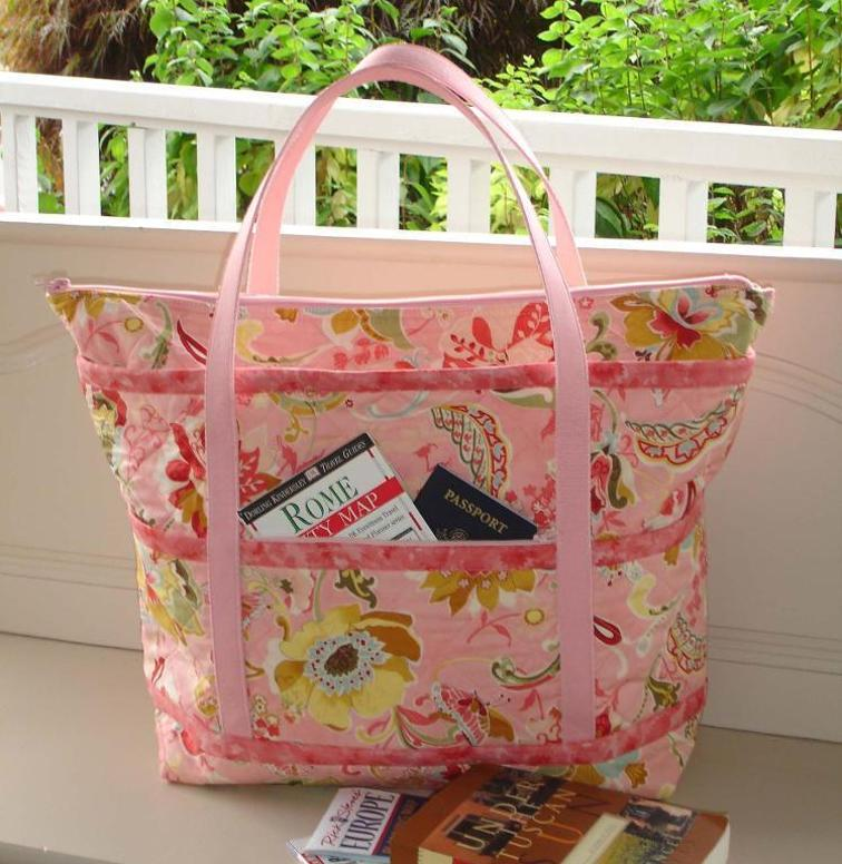 Make A Tote Bag Perfect For Travel Quilting Digest