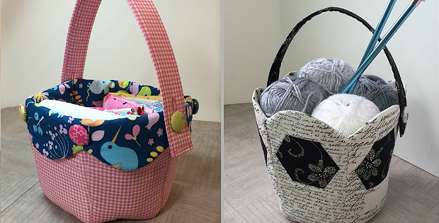 Fabric Tulip Baskets