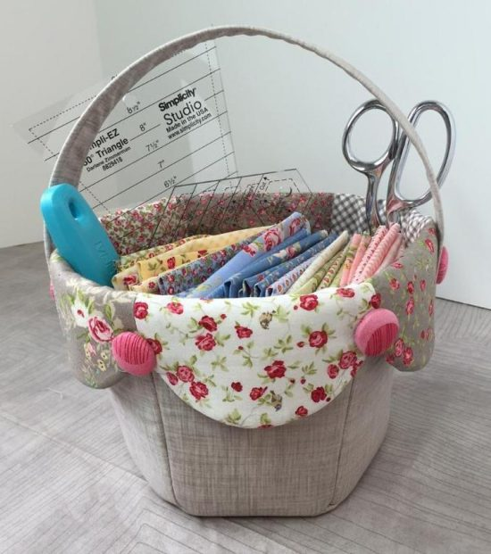 Fabric Tulip Basket