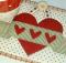 Valentine Banner Mug Rug