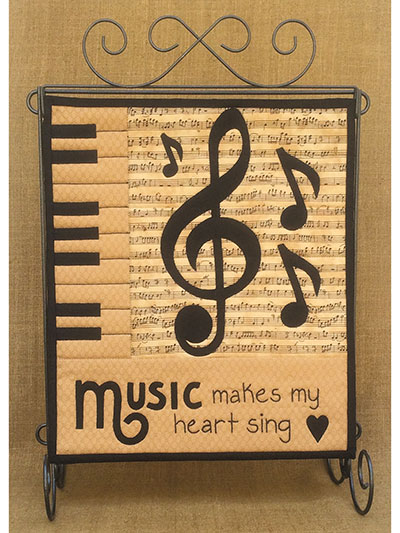Music Makes My Heart Sing Wall Quilt