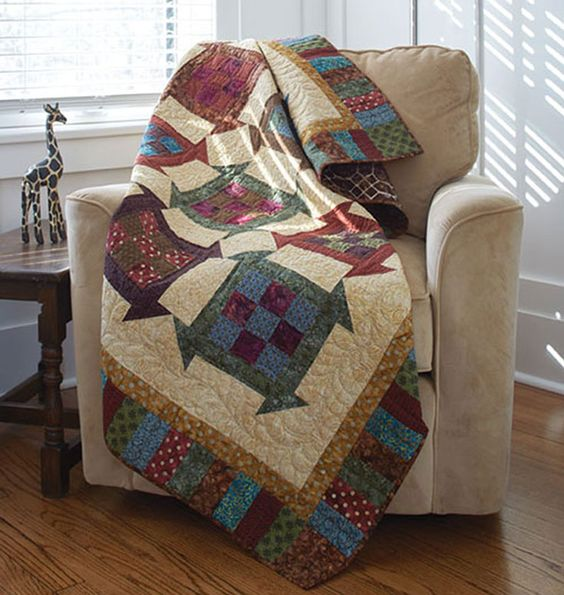 Churning Nine Patch Quilt