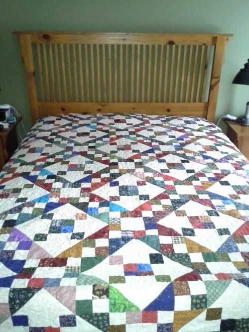 Scrappy Jacob's Ladder Quilt