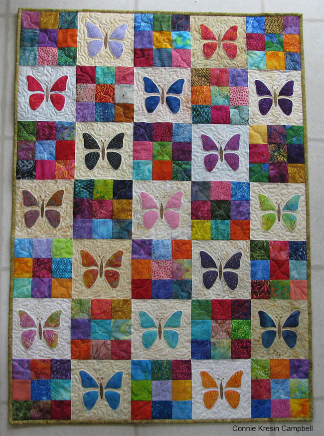 Make a Butterfly Baby Quilt from Scraps - Quilting Digest : baby quilt pictures - Adamdwight.com